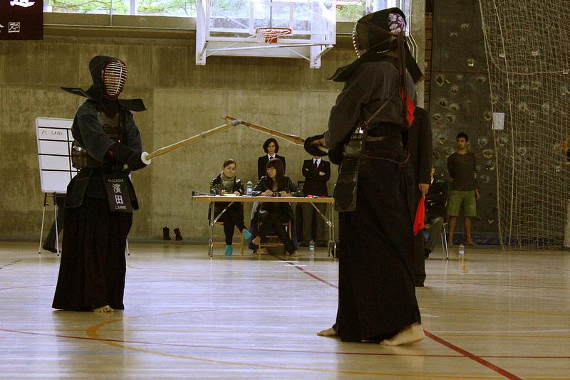 Final del Torneo de Kendo Ciudad de Vitoria 2012. Silvia Romeral rojo.